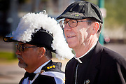 23 JANUARY 2011 - PHOENIX, AZ:  THOMAS J. OLMSTED, Bishop of the Phoenix Diocese of the Roman Catholic Church leads the March for Life through Phoenix, AZ, Sunday. About 500 people participated in the pro-life march and rally, which marked the 38th anniversary of the US Supreme Court's Roe vs. Wade decision, which legalized abortion in the United States. Olmsted entered the national spotlight on the abortion issue after he ex-communicated a Catholic nun who authorized an abortion to save a woman's life at a Catholic hospital in Phoenix. When the hospital management supported the nun, Olmsted stripped the hospital of its Catholic status.    PHOTO BY JACK KURTZ