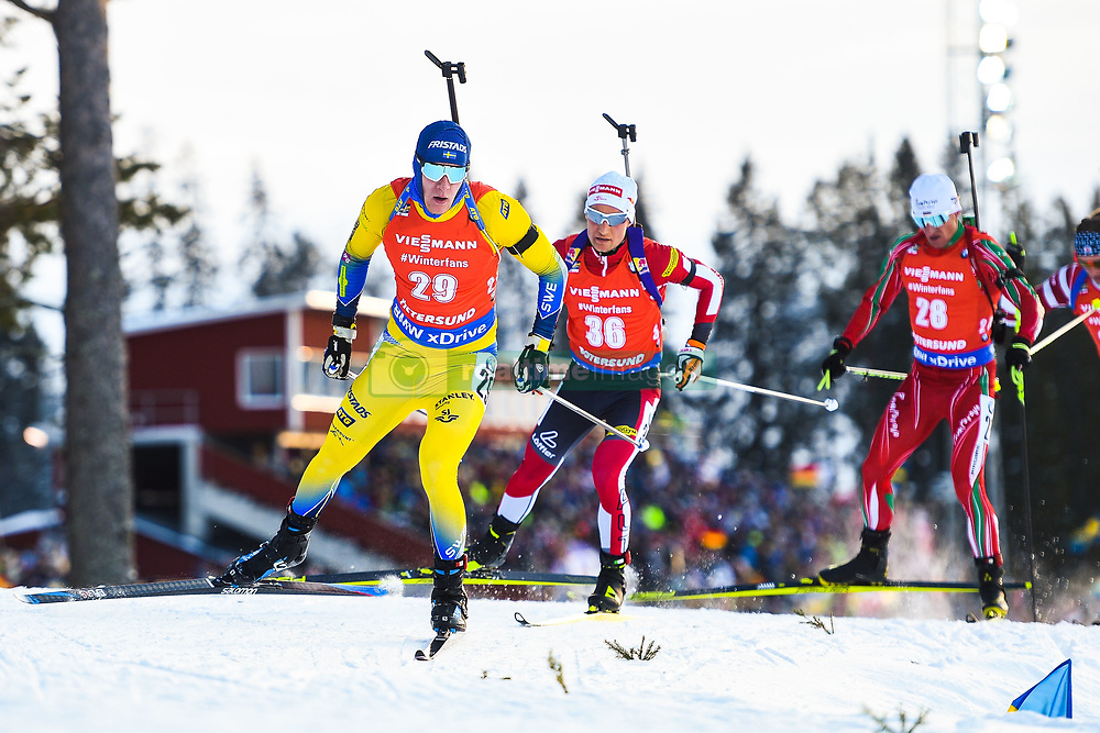 March 10, 2019 - –Stersund, Sweden - 190310 Sebastian Samuelsson of Sweden during the Men's 12,5 km Pursuit during the IBU World Championships Biathlon on March 10, 2019 in Östersund..Photo: Petter Arvidson / BILDBYRÃ…N / kod PA / 92255 (Credit Image: © Petter Arvidson/Bildbyran via ZUMA Press)