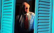 Author and writer Ray Bradury at his home in 2000