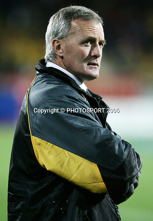 Taranaki coach Kieran Crowley before the Air New Zealand Cup week 1 rugby match between Genesis Taranaki and Wellington held at Yarrows Stadium in New Plymouth, New Zealand on Saturday 29 July 2006. Photo: Tim Hales/PHOTOSPORT