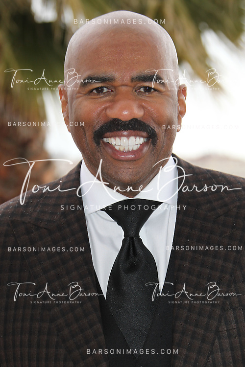 "CANNES, FRANCE - APRIL 08:  Steve Harvey attends ""Steve Harvey Show' Photocall duirng the 50th MIPTV on April 8, 2013 in Cannes, France.  (Photo by Tony Barson/Getty Images)"