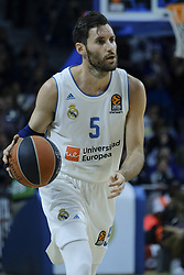 December 1, 2017 - Madrid, Madrid, Spain - Rudy Fernandez, #5 of Real Madrid during the 2017/2018 Turkish Airlines Euroleague Regular Season Round 10 game between Real Madrid v Crvena Zvezda mts Belgrade at Wizink Arena on December 1, 2017 in Madrid, Spain. (Credit Image: © Oscar Gonzalez/NurPhoto via ZUMA Press)