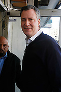 New York, NY- December 25-  New York City Public Adovocate Bill De Blasio at the Rev. Al Sharpton and National Action Network Feeding of the Hungry on Christmas Day & Toy Giveaway at the Annual NAN Event held at the NAN's House of Justice on December 25, 2011 in Harlem, New York City. Photo Credit: Terrence Jennings