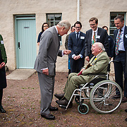 Prince of Wales, Prince Charles visits the Scottish Lime Centre Trust, Charlestown, Fife. HRH chats with Andrew Bruce, 11th Earl of Elgin. 08 Sep 2017. Charlestown. Credit: Photo by Tina Norris. Copyright photograph by Tina Norris. Not to be archived and reproduced without prior permission and payment. Contact Tina on 07775 593 830 info@tinanorris.co.uk  <br /> www.tinanorris.co.uk