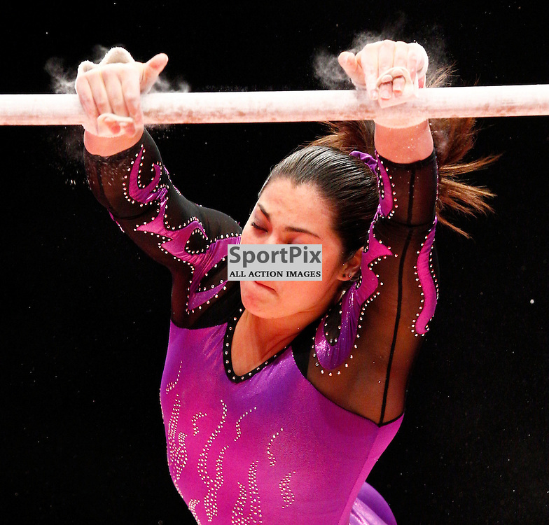 2015 Artistic Gymnastics World Championships being held in Glasgow from 23rd October to 1st November 2015..Georgia Godwin (Australia) competing in the Uneven Bars competition...(c) STEPHEN LAWSON | SportPix.org.uk