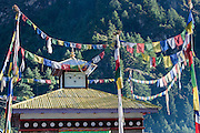 Buddhist flags over temple (Nepal)