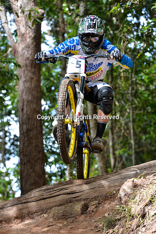 22.04.2016. Cairns,Australia. UCI Mountain Bike World Cup. Downhill qualifying. Michael Jones from GBR riding for CHAIN REACTION CYCLES / PAYPAL.