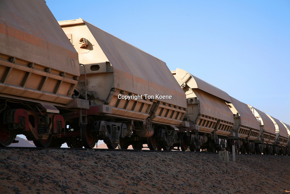train in the Jordanian desert