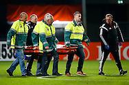 12-11-2015 VOETBAL:JONG ORANJE-JONG WIT RUSLAND:TILBURG<br /> Koning Willem II Stadion EK-kwalificatiewedstrijd<br /> <br /> blessure met brancard van het veld<br /> <br /> <br /> Foto: Geert van Erven