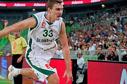 Zoran Dragic of Slovenia chasing the ball at friendly match between Slovenia and Montenegro for Adecco Cup 2011 as part of exhibition games before European Championship Lithuania on August 7, 2011, in SRC Stozice, Ljubljana, Slovenia. (Photo by Matic Klansek Velej / Sportida)