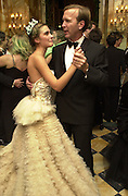 Lauren Bush and her father Neil Bush. Crillon Haute Couture Ball. Crillon Hotel, Paris. 2 December 2000. © Copyright Photograph by Dafydd Jones 66 Stockwell Park Rd. London SW9 0DA Tel 020 7733 0108 www.dafjones.com