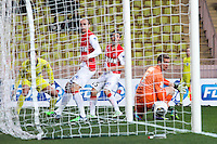 Goal Dimitar BERBATOV / Jonas LOSSL - 14.01.2015 - Monaco / Guingamp - 1/4Finale Coupe de la Ligue<br />