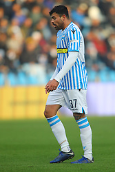 "Foto Filippo Rubin<br /> 01/12/2018 Ferrara (Italia)<br /> Sport Calcio<br /> Spal - Empoli - Campionato di calcio Serie A 2018/2019 - Stadio ""Paolo Mazza""<br /> Nella foto: ANDREA PETAGNA (SPAL)<br /> <br /> Photo Filippo Rubin<br /> December 01, 2018 Ferrara (Italy)<br /> Sport Soccer<br /> Spal vs Empoli - Italian Football Championship League A 2018/2019 - ""Paolo Mazza"" Stadium <br /> In the pic: ANDREA PETAGNA (SPAL)"