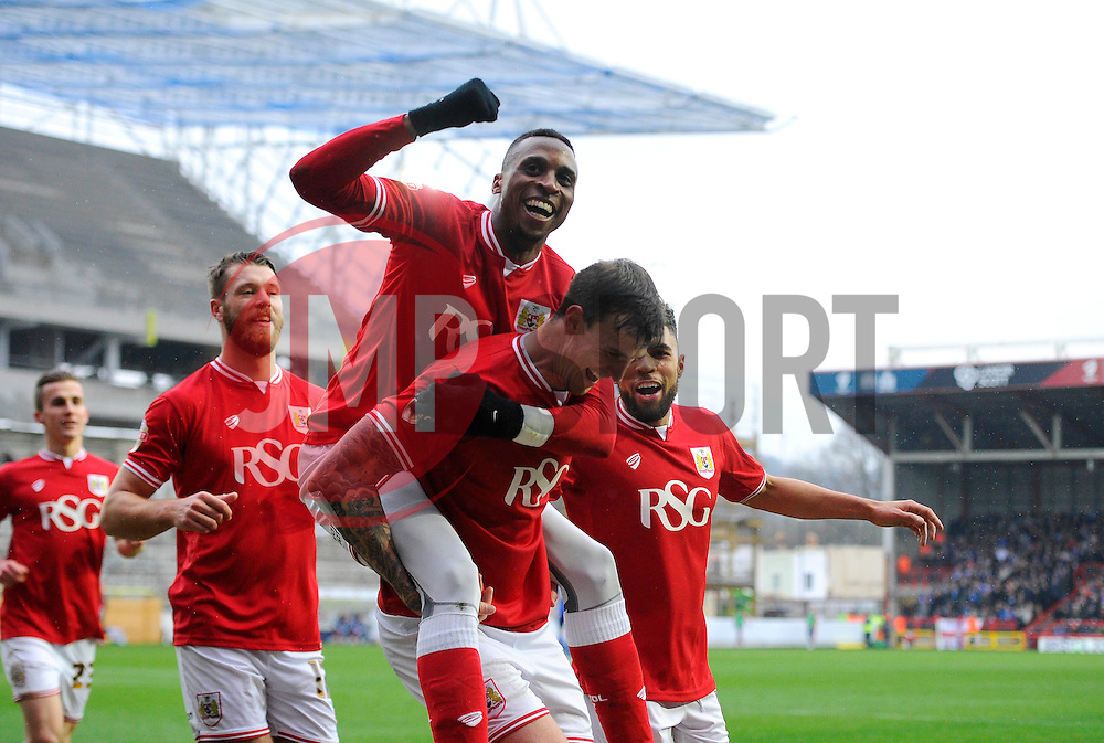 Aden Flint of Bristol City celebrates   - Mandatory byline: Joe Meredith/JMP - 13/02/2016 - FOOTBALL - Ashton Gate - Bristol, England - Bristol City v Ipswich Town - Sky Bet Championship