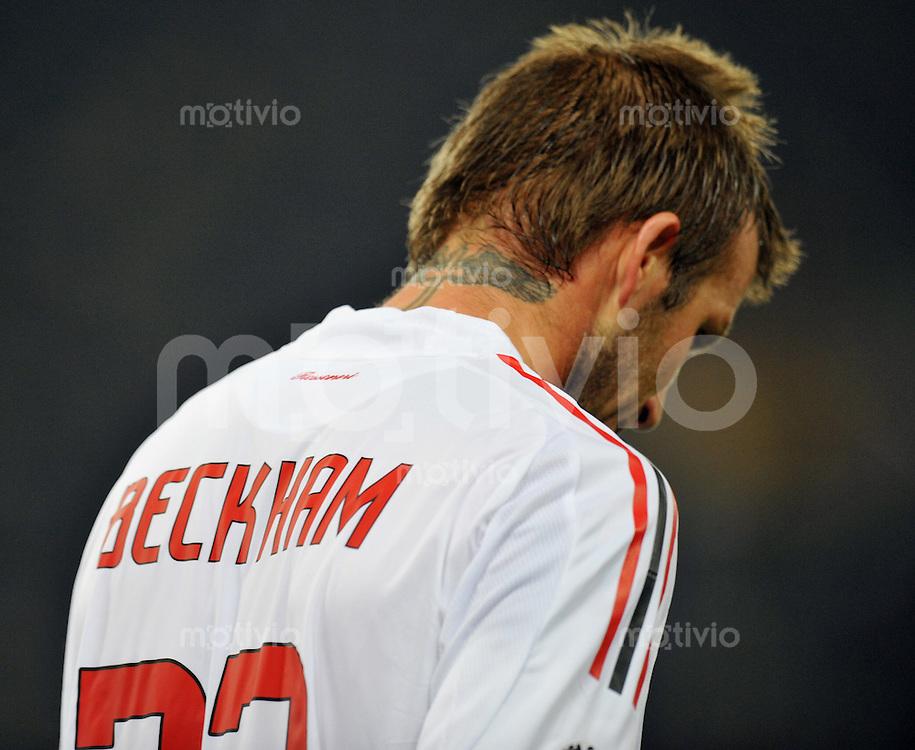 FUSSBALL INTERNATIONAL   SERIE A   SAISON 2008/2009   11.01.2009 AS Rom - AC Mailand David Beckham (AC Mailand) enttaeuscht