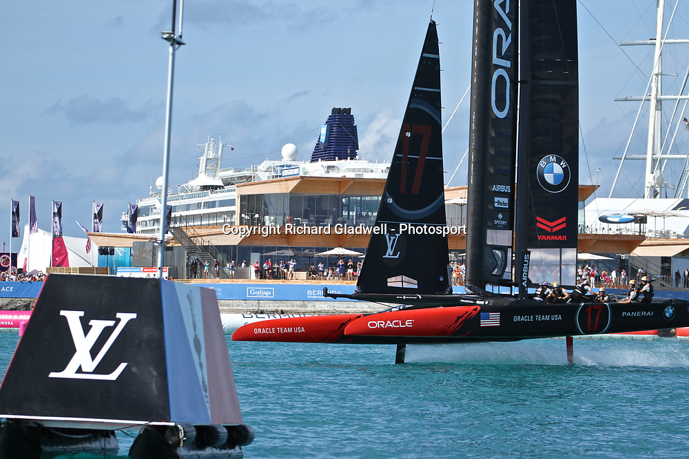 Race 12 - Oracle Team USA at the finish  - 35th America's Cup - Bermuda  May 28, 2017 . Copyright Image: Richard Gladwell / Sail World / www.photosport.nz