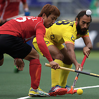 DEN HAAG - Rabobank Hockey World Cup<br /> 34 India - Korea<br /> Foto: duel.<br /> COPYRIGHT FRANK UIJLENBROEK FFU PRESS AGENCY