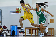(R) Annamarie Szita SO Hungary athlete in action while basketball match SO Hungary v SO Australia during second day of the Special Olympics World Games Los Angeles 2015 on July 26, 2015 on Galen Center at University of Southern California in Los Angeles, USA.<br /> USA, Los Angeles, July 26, 2015<br /> <br /> Picture also available in RAW (NEF) or TIFF format on special request.<br /> <br /> For editorial use only. Any commercial or promotional use requires permission.<br /> <br /> Adam Nurkiewicz declares that he has no rights to the image of people at the photographs of his authorship.<br /> <br /> Mandatory credit:<br /> Photo by © Adam Nurkiewicz / Mediasport