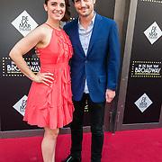 NLD/Amsterdam/20150604 - Premiere In de Ban van Broadway, Rosa da Silva en partner Rosa da Silva met partner Wouter Zweers