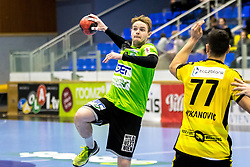 23.02.2018, BSFZ Suedstadt, Maria Enzersdorf, AUT, HLA, SG INSIGNIS Handball WESTWIEN vs Bregenz Handball, Bonus-Runde, 3. Runde, im Bild Olafur Bjarki Ragnarsson (SG INSIGNIS Handball WESTWIEN) // during Handball League Austria, Bonus-Runde, 3 rd round match between SG INSIGNIS Handball WESTWIEN and Bregenz Handball at the BSFZ Suedstadt, Maria Enzersdorf, Austria on 2018/02/23, EXPA Pictures © 2018, PhotoCredit: EXPA/ Sebastian Pucher