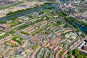Nederland, Utrecht, Utrecht, 13-05-2019; overzicht centrum Utrecht met de wijken Oog in Al en Halve maan, en het Amsterdam-Rijnkanaal.<br /> Utrecht city center, western part.<br /> luchtfoto (toeslag op standard tarieven);<br /> aerial photo (additional fee required);<br /> copyright foto/photo Siebe Swart