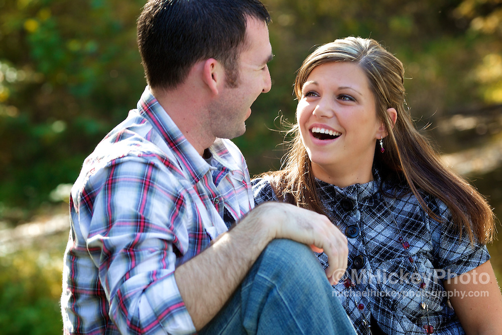 Erica Mason and Josh Vinson engagement sitting in Kokomo, Indiana. <br /> <br /> Kokomo, Indianapolis, Indiana Wedding photography by Michael Hickey