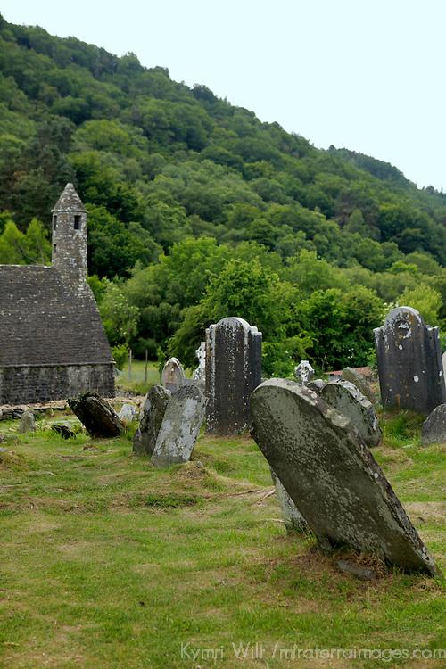 Europe, Ireland, Glendalough. Monastic site of St. Kevin in Glendalough.