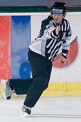 Linesman at during ice-hockey match between HDD Tilia Olimpija and EHC Liwest Black Wings Linz in 18th Round of EBEL league, on November 5, 2010 at Hala Tivoli, Ljubljana, Slovenia. (Photo By Matic Klansek Velej / Sportida.com)