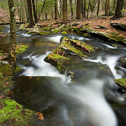 Burnham Brook in East Haddam, Connecticut.  The Nature Conservancy's Burnham Brook Preserve.  Eight Mile River watershed.