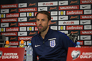Gareth Southgate during the England Press Conference at Stadion Stozce , Ljubljana, Slovenia on 10 October 2016. Photo by Phil Duncan.