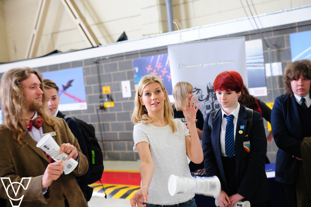 EBP/RAF Scampton Red Stem event 2016.<br /> <br /> Rachel Riley and Sir William Robertson Academy<br /> <br /> Picture: Chris Vaughan/Chris Vaughan Photography<br /> Date: June 13, 2016