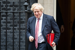 © Licensed to London News Pictures. 27/03/2018. London, UK. Foreign and Commonwealth Secretary Boris Johnson leaving Downing Street after attending a Cabinet meeting this morning. Photo credit : Tom Nicholson/LNP