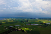 Nederland, Overijssel, Gemeente Kampen, 30-06-2011; Kampereiland met Noorddiep.View on the polders and the Noorddiep (canal)..luchtfoto (toeslag), aerial photo (additional fee required).copyright foto/photo Siebe Swart