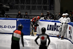 February 9, 2019 - Torino, Italia - Foto LaPresse/Nicolò Campo .9/02/2019 Torino (Italia) .Sport.ISU World Cup Short Track Torino - Men 500 meters Semifinals .Nella foto: Shuai Yang squalificato per falsa partenza..Photo LaPresse/Nicolò Campo .February 9, 2019 Turin (Italy) .Sport.ISU World Cup Short Track Turin - Men 500 meters Semifinals.In the picture: Shuai Yang (Credit Image: © Nicolò Campo/Lapresse via ZUMA Press)
