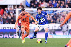 March 9, 2019 - Strasbourg, France - 08 HOUSSEM AOUAR (OL) - 14 SANJIN PRCIC  (Credit Image: © Panoramic via ZUMA Press)