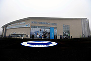 A general view of the new club crest on the external north stand concourse before  the EFL Sky Bet Championship match between Brighton and Hove Albion and Derby County at the American Express Community Stadium, Brighton and Hove, England on 10 March 2017.