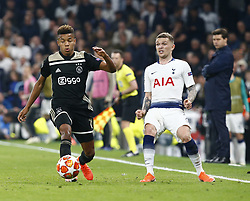 April 30, 2019 - London, England, United Kingdom - David Neres of Ajax.during UEFA Championship League Semi- Final 1st Leg between Tottenham Hotspur  and Ajax at Tottenham Hotspur Stadium , London, UK on 30 Apr 2019. (Credit Image: © Action Foto Sport/NurPhoto via ZUMA Press)