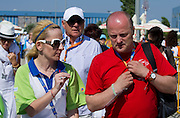 (R) Boguslaw Galazka - Director of Special Olympics Poland with trainer during 2011 Special Olympics World Summer Games Athens on June 27, 2011..The idea of Special Olympics is that, with appropriate motivation and guidance, each person with intellectual disabilities can train, enjoy and benefit from participation in individual and team competitions...Greece, Athens, June 27, 2011...Picture also available in RAW (NEF) or TIFF format on special request...For editorial use only. Any commercial or promotional use requires permission...Mandatory credit: Photo by © Adam Nurkiewicz / Mediasport