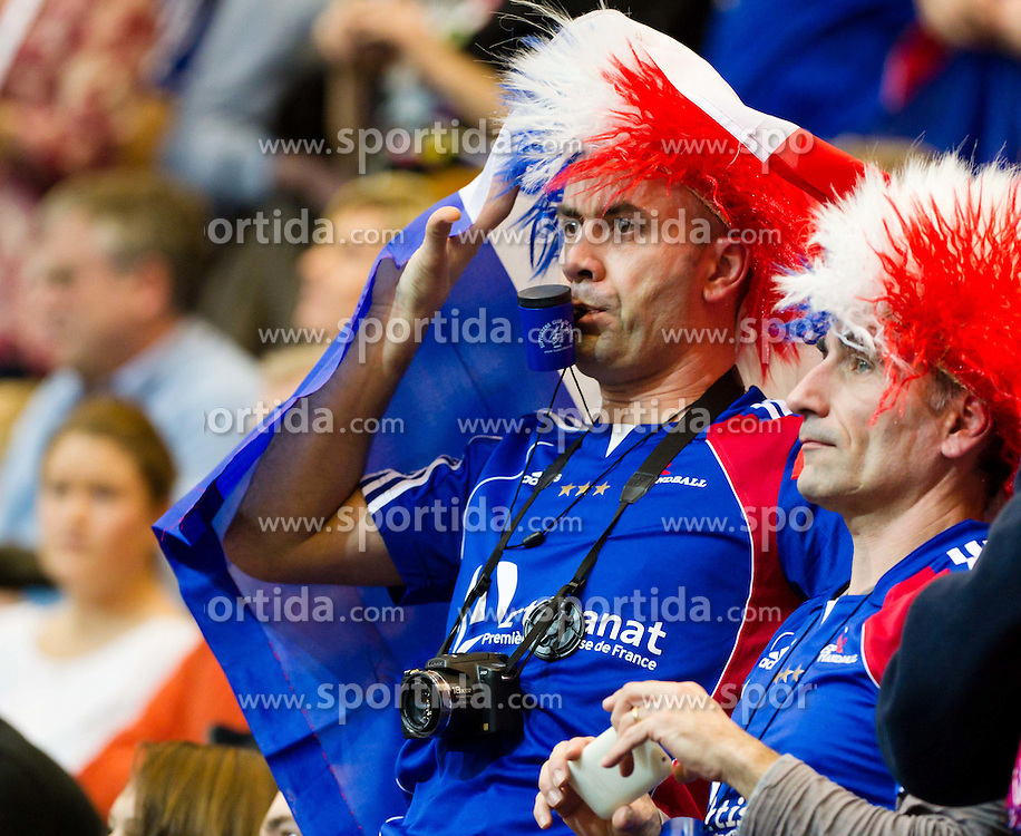 19.01.2011, Kristianstad Arena, SWE, IHF Handball Weltmeisterschaft 2011, Herren, Deutschland (GER) vs Frankreich (FRA) im Bild, // Two fans from France prior to the game // during the IHF 2011 World Men's Handball Championship match  Germany (GER) vs France (FRA) at Kristianstad Arena, Sweden on 19/1/2011.  EXPA Pictures © 2011, PhotoCredit: EXPA/ Skycam/ Johansson +++++ ATTENTION - OUT OF SWEDEN/SWE +++++