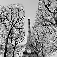 The Eiffel Tower pictured in the afternoon on a spring April day in Paris, France 2015.