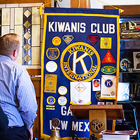 The Kiwanis Club meets for their regular meeting at the Panz Alegra restaurant in Gallup April 18.