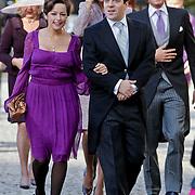 BEL/Brussel/20101120 - Huwelijk prinses Annemarie de Bourbon de Parme-Gualtherie van Weezel en bruidegom Carlos de Borbon de Parme, Bernardo Guillermo en partner Eva Prinz-Valdes