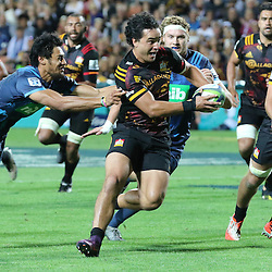 James Lowe during the Investec Super  Rugby match between the Chiefs and Blues at FMG Waikato Stadium in Hamilton, New Zealand on Friday 3 March 2017. Photo: Dion Mellow / lintottphoto.co.nz