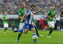 25.09.2011, Weserstadion, Bremen, GER, 1.FBL, Werder Bremen vs Hertha BSC, im Bild Andreas Wolf (Bremen #23), Christoph Janker (Berlin #6)..// during the match Werder Bremen vs Hertha BSC on 2011/09/25, Weserstadion, Bremen, Germany..EXPA Pictures © 2011, PhotoCredit: EXPA/ nph/  Frisch       ****** out of GER / CRO  / BEL ******