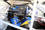 TUCSON, ARIZONA - MAY 07:  Todd Gilliland, driver of the #16 NAPA Auto Parts, sits in his car for practice for the NASCAR K&N Pro Series West NAPA Auto Parts Wildcat 150 at Tucson Speedway on May 7, 2016 in Tucson, Arizona.  (Photo by Jennifer Stewart/NASCAR via Getty Images)