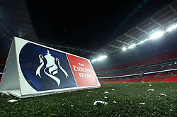 Snow falls at Wembley Stadium ahead of the FA Cup Fifth Round replay between Tottenham Hotspur and Rochdale - Mandatory by-line: Robbie Stephenson/JMP - 28/02/2018 - FOOTBALL - Wembley Stadium - London, England - Tottenham Hotspur v Rochdale - Emirates FA Cup fifth round proper
