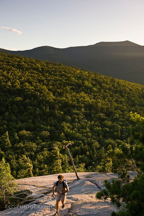 The view of Moat Mountain from Cathedral Ledge in Echo Lake State Park in North Conway, New Hampshire. White Mountains.