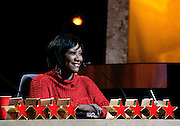 Celebrity Choir director Patti LaBelle sits on judging panel during the NBC 'Clash Of The Choirs' full show rehearsal at Steiner Studios in Brooklyn, New York City, USA on December 16, 2007.