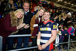 Mitch Eadie of Bristol Rugby and his family celebrate after Bristol Rugby win 28-20 - Rogan Thomson/JMP - 26/12/2016 - RUGBY UNION - Ashton Gate Stadium - Bristol, England - Bristol Rugby v Worcester Warriors - Aviva Premiership Boxing Day Clash.