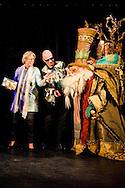 EFTELING -  Voorlezen en rappen: goed voor taalontwikkeling Prinses Laurentien, Paul van Loon en Yes-R samen op podium in Efteling COPYRIGHT STICHTING TAALONTWIKKELING ROBIN UTRECHT